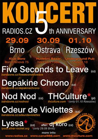 Koncert z okazji 5-lecia Radios.cz